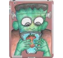Frankenstein's Monster Learning How To Use Modern Tech iPad Case/Skin