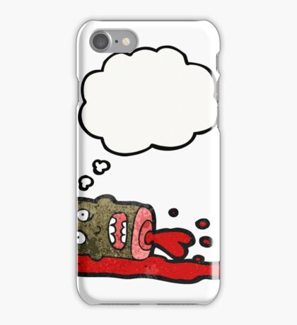 cartoon gross severed head iPhone Case/Skin