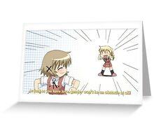 Love - Hidamari Sketch Greeting Card