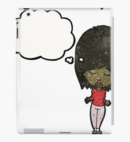 woman with thought bubble iPad Case/Skin
