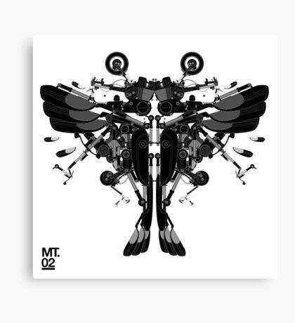 blackbird motorbike robo Canvas Print