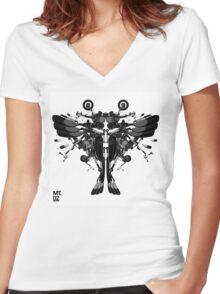 blackbird motorbike robo Women's Fitted V-Neck T-Shirt