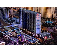 Aerial view of Bally's Hotel the Strip, Las Vegas, Nevada, USA Photographic Print