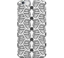 Rib-bellion Pattern (Black and White) iPhone Case/Skin