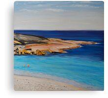 Tranquil Morning Swim at Salmon Beach Canvas Print