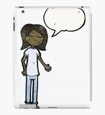 talking girl cartoon iPad Case/Skin