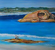 Twilight Beach by Jen  Biscoe