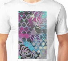 Purple roses abstract print Unisex T-Shirt
