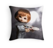 Elfin Acting Ensign Throw Pillow