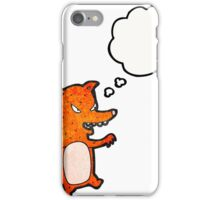cartoon sly fox iPhone Case/Skin