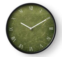 Dark green vintage scratched cloth Clock