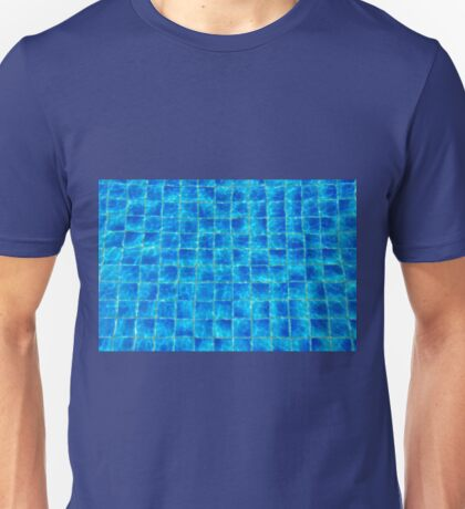 Bottom of blue swimming pool on a sunny day Unisex T-Shirt