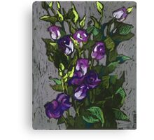 Violet flowers in a bunch Canvas Print