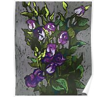 Violet flowers in a bunch Poster