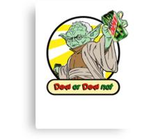 Dew or Dew Not - Yoda - Black Boarder Canvas Print
