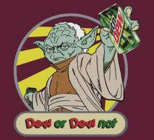 Dew or Dew Not - Yoda - Grey Boarder by DGArt
