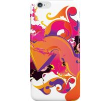 artistic Background of paint vibrant colors iPhone Case/Skin