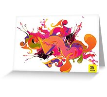 artistic Background of paint vibrant colors Greeting Card