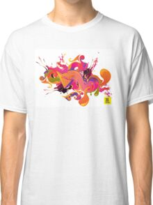 artistic Background of paint vibrant colors Classic T-Shirt