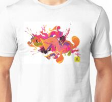 artistic Background of paint vibrant colors Unisex T-Shirt