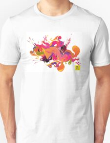 artistic Background of paint vibrant colors T-Shirt