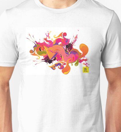 artistic Background of paint vibrant colors Unisex T-Shirt