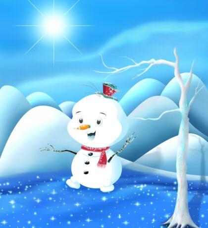 Snowbaby on Sparkling Ice Sticker