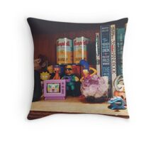 The Simpsons Toy Collection Throw Pillow