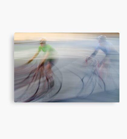 Cyclists, blurry Canvas Print