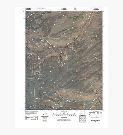 USGS TOPO Map Colorado CO Escalante Forks 20110517 TM Photographic Print