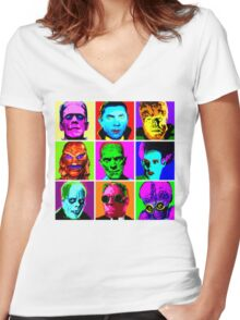 Universal Warhol Women's Fitted V-Neck T-Shirt