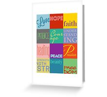 12 Boxes -- Inspirational Design Greeting Card