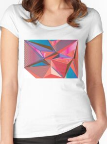 Geometric triangle pattern Women's Fitted Scoop T-Shirt