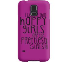 Audrey Hepburn Happiest Girls Typography Samsung Galaxy Case/Skin