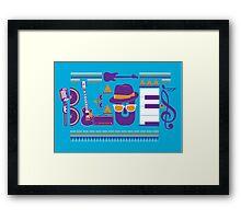 blues music artwork Framed Print
