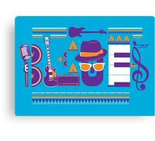 blues music artwork Canvas Print
