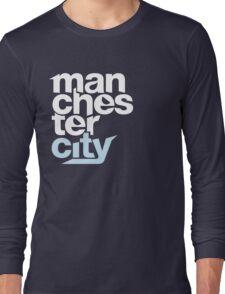 Manchester City Football Club - TEXT Long Sleeve T-Shirt