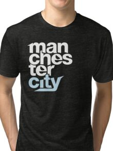 Manchester City Football Club - TEXT Tri-blend T-Shirt
