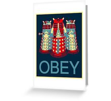 OBEY Greeting Card