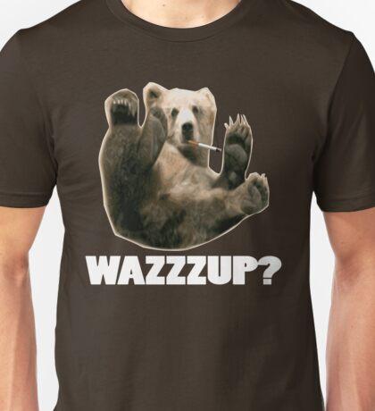 WAZZZUP? funny smoking bear Unisex T-Shirt