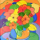 Nasturtiums # 5   by Virginia McGowan