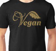 Vegan gold glitter design Unisex T-Shirt