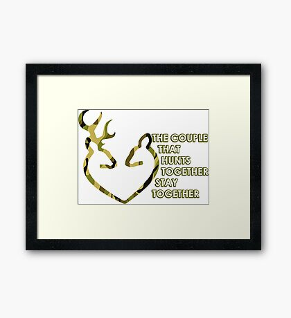 Hunting Couple Framed Print