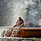 GIRL IN THE FOUNTAIN by TJ Baccari Photography