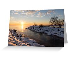 Brilliant, Bright and Cold - a Winter Morning on the Lake Shore Greeting Card