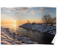 Brilliant, Bright and Cold - a Winter Morning on the Lake Shore Poster