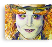 Mad Hatter Close Up Canvas Print