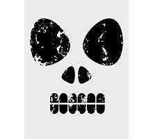 SKULL - black outline Photographic Print