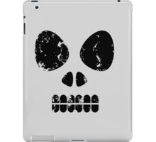 SKULL - black outline iPad Case/Skin