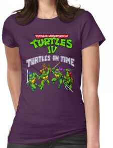 TMNT Turtles In Time (SNES) Womens Fitted T-Shirt